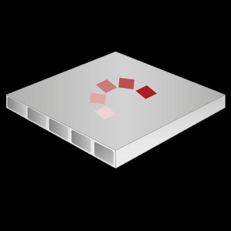 Hohlkammerplatte, 3 mm